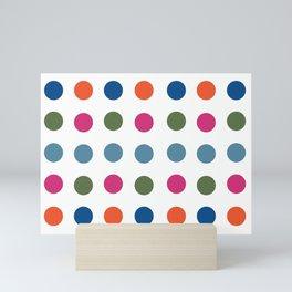 Colorful Regularity Mini Art Print