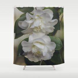 Romantic White Vintage Flowers, Nature Prints, Flower Photography Shower Curtain