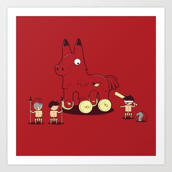 Trojan Piñata Art Print