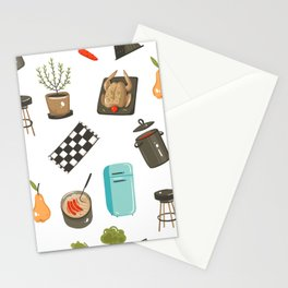 Retro Cooking Stationery Cards