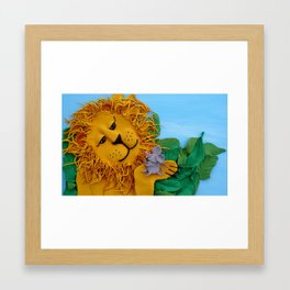 Lion and mouse Framed Art Print