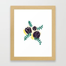Black Tulips Framed Art Print