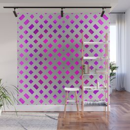 Dance of the Purple Squares #2 Wall Mural