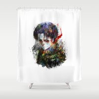snk Shower Curtains featuring strongest by ururuty
