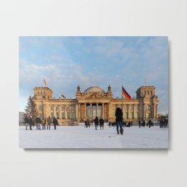 Snowy Reichstag, Berlin, Metal Print