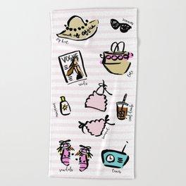 J Crew Summer Girls Beach Towel