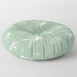 Mediterranean olives Floor Pillow