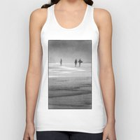 south africa Tank Tops featuring Surfing South Africa by David Turner