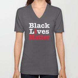 BLACK LIVES MATTER (inverse version) Unisex V-Neck