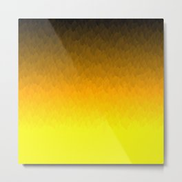 Black Orange Yellow Ombre Flames Metal Print