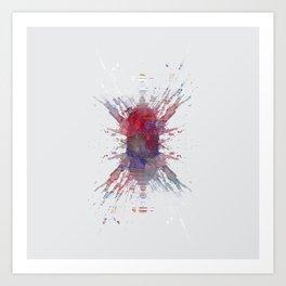 Inknograph I - Ink Blot Art Art Print