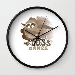 Floss Dance Move Sloth Wall Clock