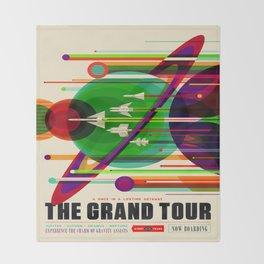 Vintage poster - The Grand Tour Throw Blanket
