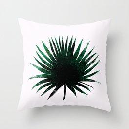 Round Palm Leaf Throw Pillow