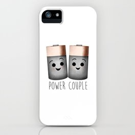 Power Couple | Batteries iPhone Case