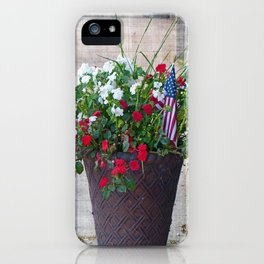 Flowers & Flags iPhone Case