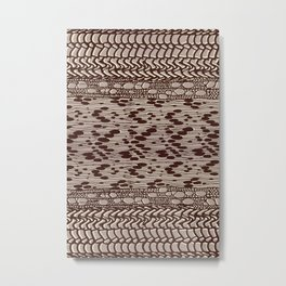 knit patchwork in sand Metal Print
