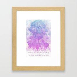George Washington says grow hemp weed Framed Art Print