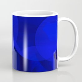 Abstract soap of ultramarine molecules and transparent bubbles on a deep blue background. Coffee Mug