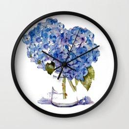 Cape Cod Hydrangea Large Canvas Wall Clock