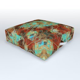 Scifi Rustic Geometric Outdoor Floor Cushion