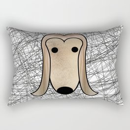 Afghan Hound furry Rectangular Pillow