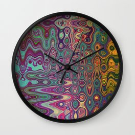 Released Blues Wall Clock