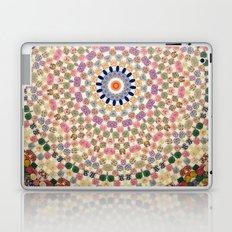 Vintage Textile YoYo Quilt Mandala Laptop & iPad Skin