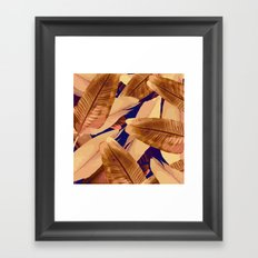 Banana Leaves Orange and Purple Framed Art Print