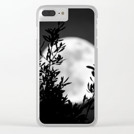 Full Moon Leaves Clear iPhone Case