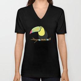 Tropical Parrots Unisex V-Neck