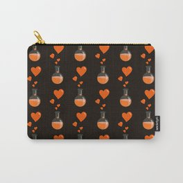 Love Chemistry Flask of Hearts Pattern Carry-All Pouch
