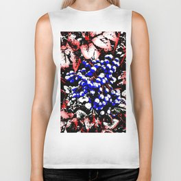Blue Berries Retro Biker Tank