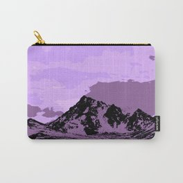 Chugach Mountains - EggPlant Pop Art Carry-All Pouch