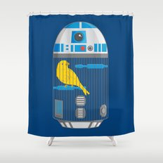 R2 Birdcage Shower Curtain