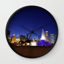 Chicago skyline panorama Wall Clock