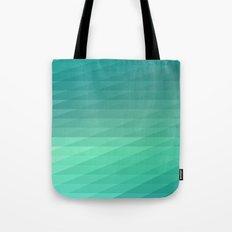 Fig. 043 Mint Green Geometric Diagonal Stripes Tote Bag