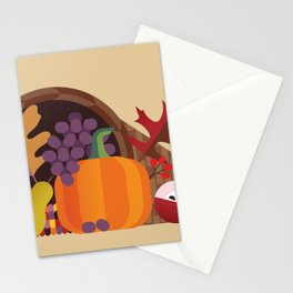 Fall Autumn Cornucopia Stationery Cards