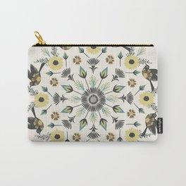 Blackbird Floral Mandala Carry-All Pouch