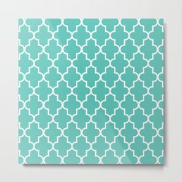 Moroccan - Turquoise Metal Print