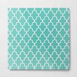 Moroccan - Turquoise Metal Print