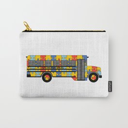 Autism Awareness School Bus Carry-All Pouch