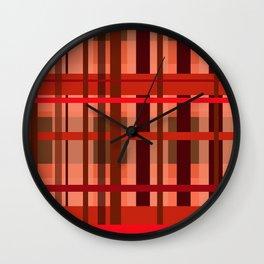 Fall Plaid Wall Clock