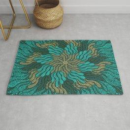 Ubud Mandala Abstract - Green Palette Rug