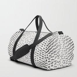 Stripes In Black & White Duffle Bag