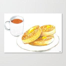 Crumpets Canvas Print