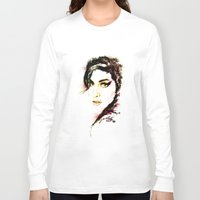 amy hamilton Long Sleeve T-shirts featuring AMY by Ryan Huddle House of H