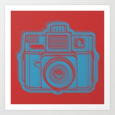 I Still Shoot Film Holga Logo - Red & Blue Art Print