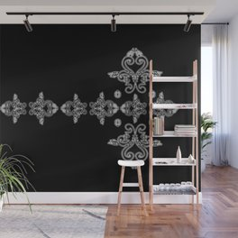 'Faith' - Cross of Lace in black and white Wall Mural