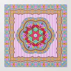 Mix&Match;  Pretty Pink Mandala Meditation pillow 03 Canvas Print